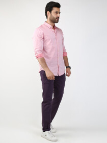Light Pink Slim Fit Casual Shirt