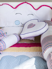 Little Hearts 10 Pcs Cot Set