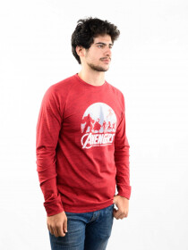 Red Printed Slim Fit Round Neck T-Shirt