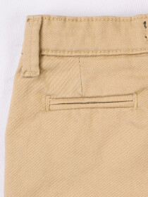 Khaki Equal Washed Slim Fit Chinos
