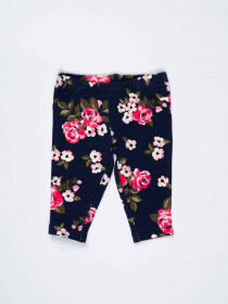 Blue Floral Printed Newborn Baby Girl Jeggings