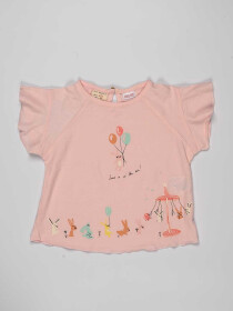 Pink Printed Baby Girl Top