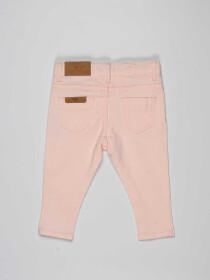 Light Pink Baby Girl Cotton Pants