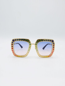 Gucci Metal Glasses