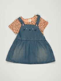 Blue & Pink Baby Girl 2 Piece Frock