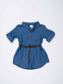 Blue Baby Girl Denim Frock