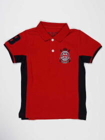 Red & Black Baby Boy Polo Shirt
