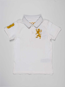 White Baby Boy Polo Shirt