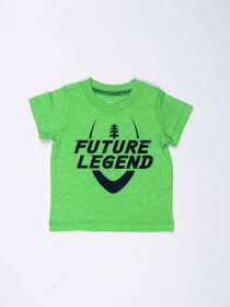 Green Printed Round Neck Baby Boy T-Shirt