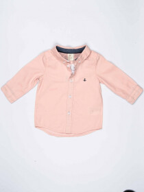 Pink Cotton Baby Boy Casual Shirt