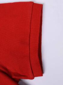 Big Kids - Cotton Mesh Polo Shirt - Red