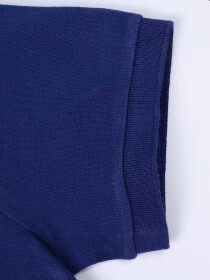 Big Kids - Cotton Mesh Polo Shirt - Blue