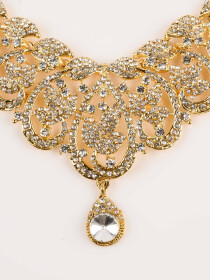 Shimmering Gold Plated Necklace Set