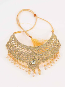 Ethnic Gold Plated Zircona Necklace Set