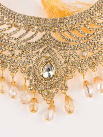 Ethnic Gold Plated Zircona Necklace Set