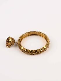 Glitzy Gold Plated Jhumki Bangle (kara)