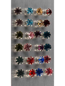 MultiColour Zirconia Tops (Pack of 12)