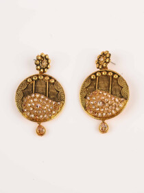 Preety Gold Plated Antique Bridal Set