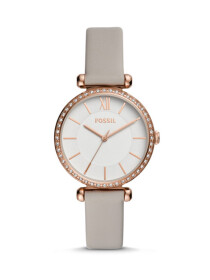 FOSSIL TILLIE THREE-HAND GRAY LEATHER WATCH