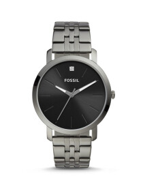Fossil Lux Luther Three-Hand Smoke Stainless Steel Men Watch