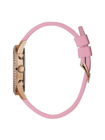 GUESS ROSE GOLD-TONE AND PINK MULTIFUNCTION LADIES WATCH