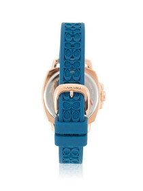 COACH WOMEN'S TEAL SILICON RUBBER STRAP WATCH