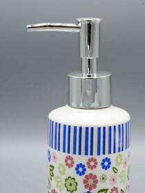 Bathroom Set MultiColor Flower Design 4Pcs Set