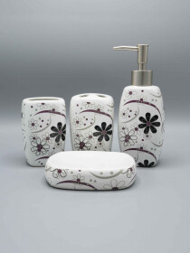 Bathroom Set Flower Design