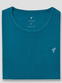 Deep Blue Cotton T-Shirt