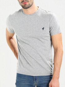 Heather Grey Cotton T-Shirts