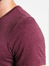 Maroon Heather Cotton T-Shirt