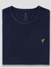 Navy Gold Cotton T-Shirt