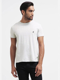 Oatmeal Crew Slim Cotton T-Shirt