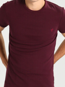Wine Red Cotton T-Shirt