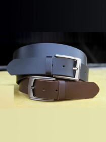 Pack of 2 - Genuine Leather Casual Belts