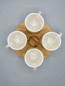 4 Pcs Mug Holder Tray