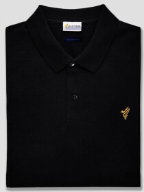 Black Basics Gold Polo Shirt