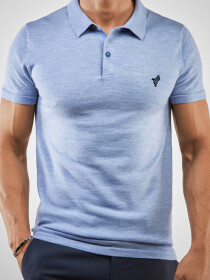 Heather Blue Polo Shirt