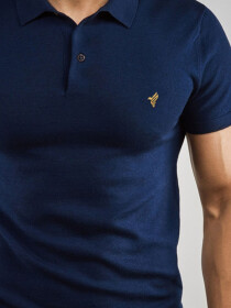 Navy basics Gold Polo Shirt