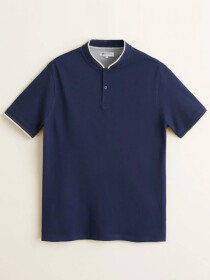 Blue Sports Polo Shirt