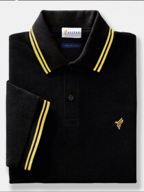 Gold Black Polo Shirt