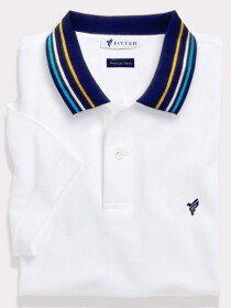 White Sports Polo Shirt