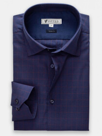 Navy and Maroon Shirt  (Modern Fit)