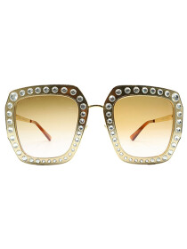 Acetate Sunglasses with Crystals