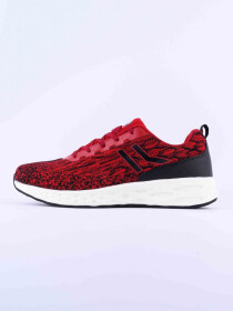 MEN'S TRAINING SHOE BLACK-DK-RED