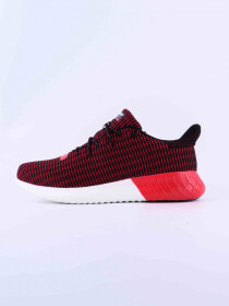 MEN'S LIFESTYLE SHOE BLK-DK-RED