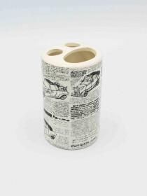 Bathroom Set Newspaper Design 4Pcs Set