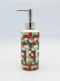 Bathroom Set Multicolor Circle Design 4Pcs Set