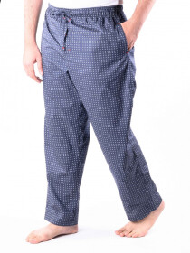 Navy Printed Cotton Baggy Pajamas