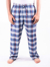Blue and Red Check Cotton Baggy Pajamas